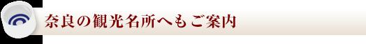 奈良の観光名所へもご案内